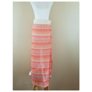 JOE BENBASSET Tribal Orange Knitted Maxi Skirt